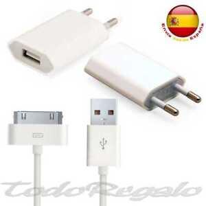 896e4df7e48 CARGADOR RED +CABLE DATOS USB IPHONE 4 4S S 3 3G 3GS IPOD TOUCH CASA ...