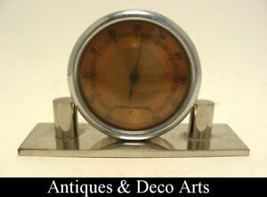 French-Art-Deco-Chrome-plated-Thermometer