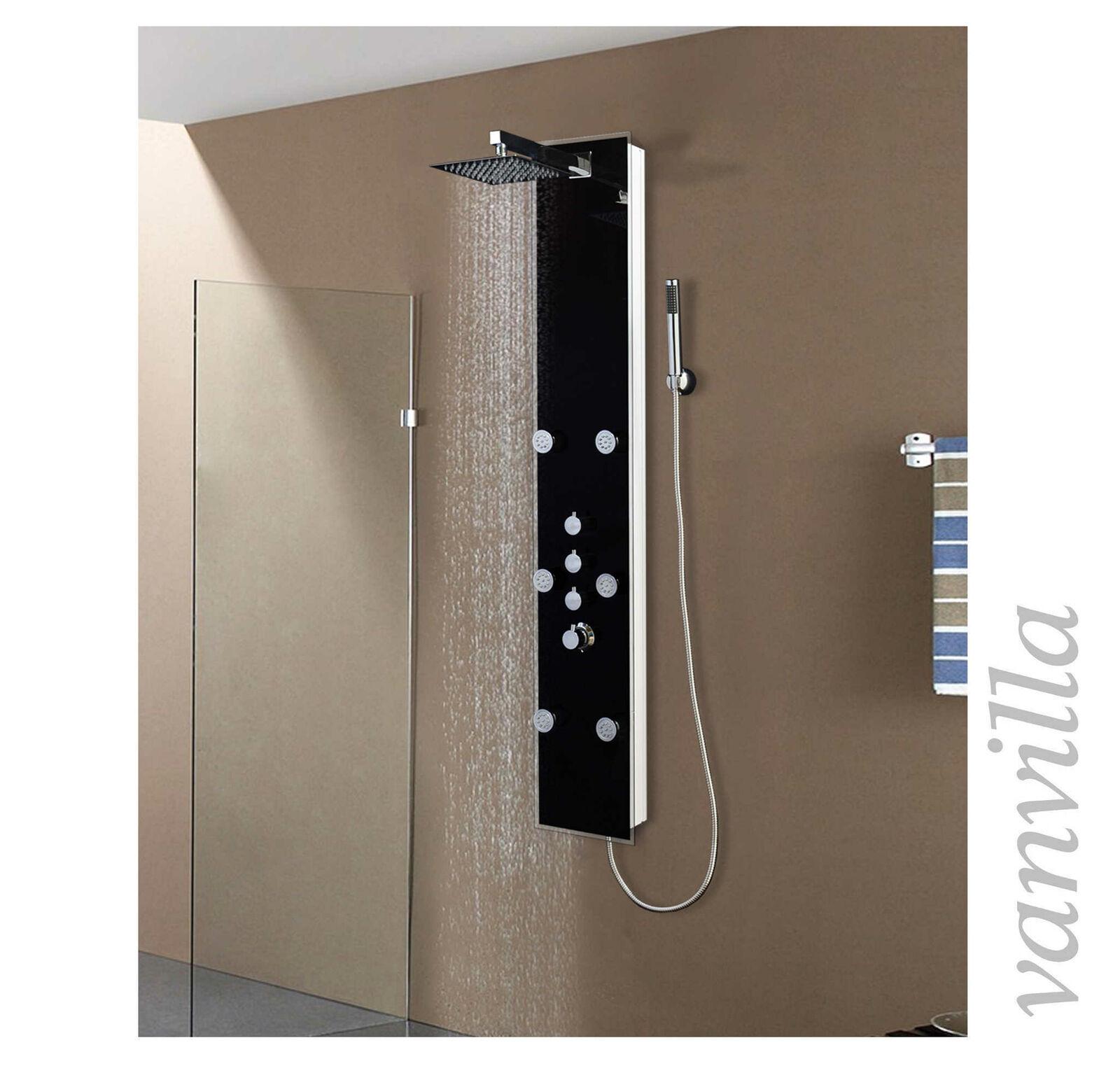Duschpaneel Thermostat Glas Duschsäule Brausepaneel Regendusche SonsGoldl | Stilvoll Stilvoll Stilvoll und lustig  | Neue Sorten werden eingeführt  | Meistverkaufte weltweit  | eine breite Palette von Produkten  4b14f6