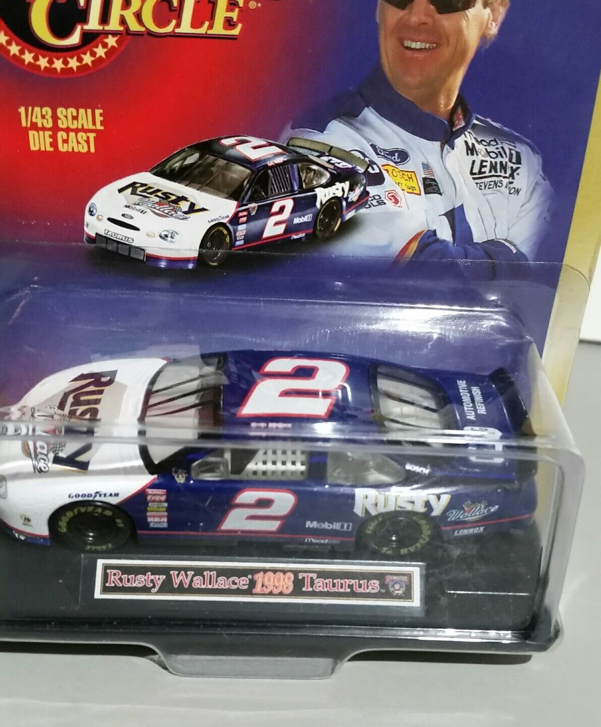 New RUSTY WALLACE 1998 Ford Ford Ford Taurus 1 43 WINNERS CIRCLE no miller ads on car fed077