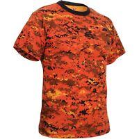 Orange Digital Camo T-shirt Cleveland Browns Bengals Broncos Tigers Halloween