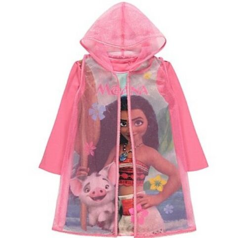 Brand New Girl/'s Disney Nightdress With Cape Frozen Belle Rapunzel Moana
