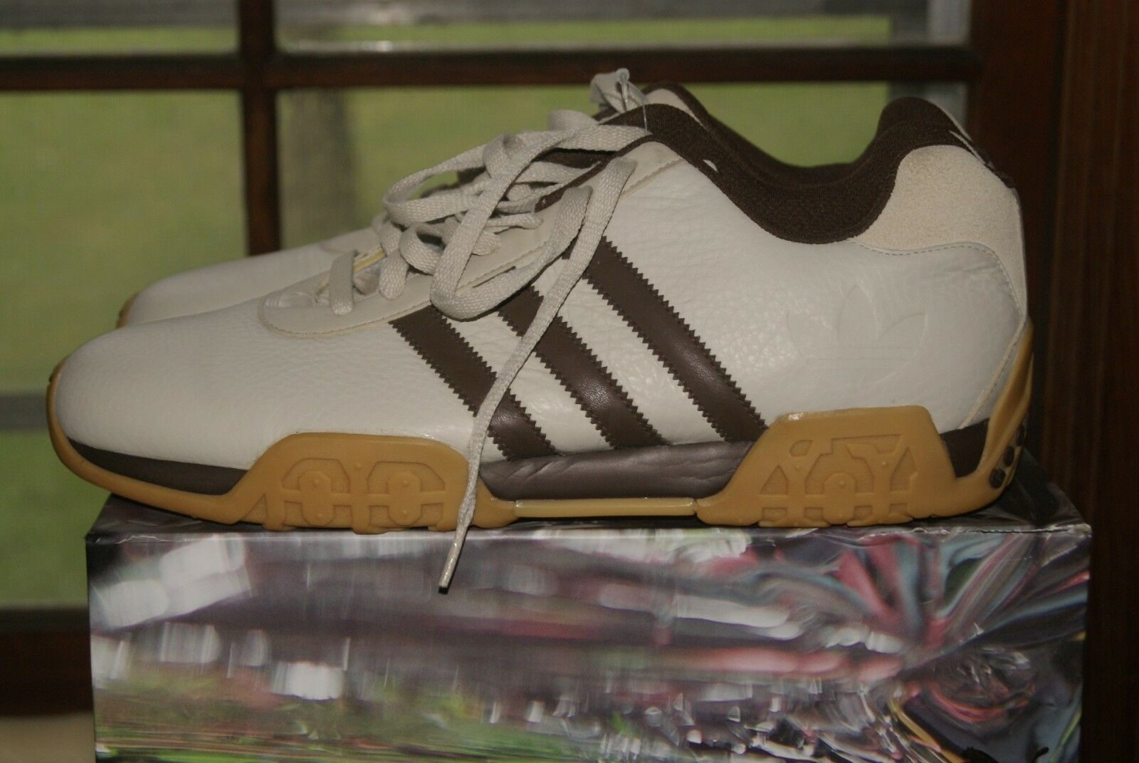 Adidas gutes jahr schuh schuh beige Braun goodyear sz 13 deadstock selten goodyear Braun 88074b