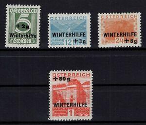 P126383-AUSTRIA-MI-563-566-COMPLETE-MINT-MH-CV-105