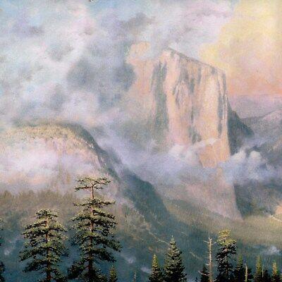 Thomas Kinkade Wallpaper Border - Misty Yosemite Valley Scene Borders - 622