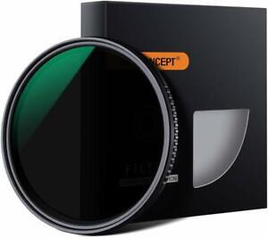 R Concepto K/&F 58mm Slim Filtro de Densidad Neutra Nd Variable ajustable