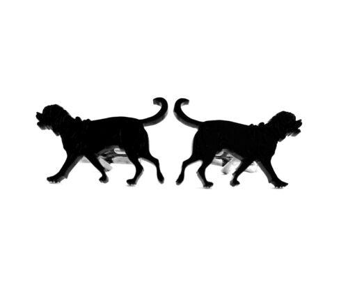 Dogo De Burdeos Perro Gemelos Camisa para hombre Perro Novedad Gemelos en Negro