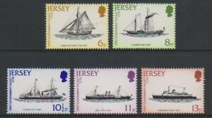 Jersey-1978-Courrier-Paquet-Service-Expedie-Ensemble-MNH-Sg-197-201