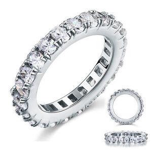 925-Sterling-Silver-Wedding-Eternity-Band-Ring-Oval-Cut-Created-Diamond-FR8059