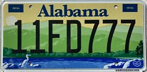 GENUINE-Alabama-Environment-Heron-Dixie-USA-License-Licence-Number-Plate-11FD777