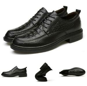 mens black business leisure shoes round toe work office