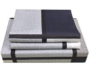 CC-amp-DD-100-Cotton-Checked-Duvet-Cover-Set-Hidden-Zipper-Closure-Queen-Size