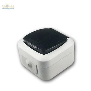 feuchtraum steckdose ip44 250v 16a aufputz dose ap. Black Bedroom Furniture Sets. Home Design Ideas