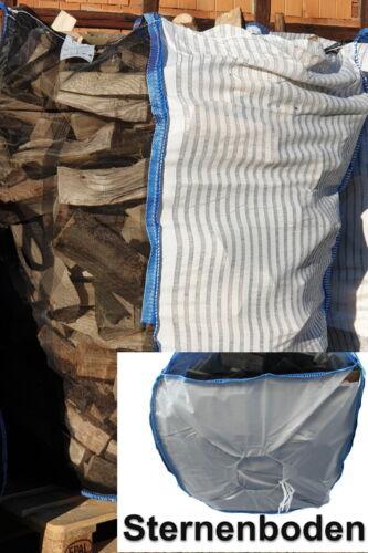 Profi Woodbag Holzbag 100x100x160cm Sternboden BigBag Brennholz  10 Stück