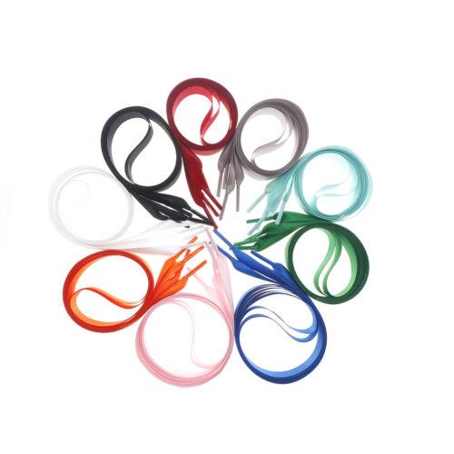 1M length various colors Flat Shoelaces Ribbon Satin Shoe Laces Sport Shoes  Z