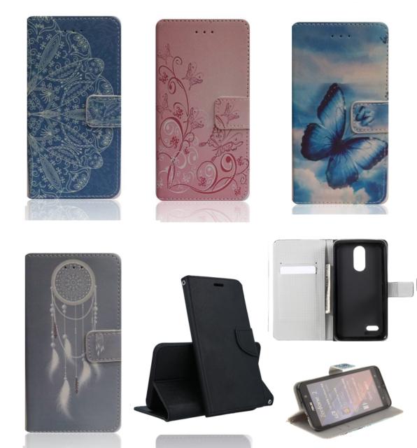 Para LG K8(2017) M200N / K4(2017) M160 Tapa Cubierta de la Caja Libro Soporte