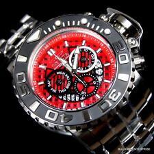 Invicta Sea Hunter III Red 70mm Full Sized Swiss Steel Chronograph Watch New