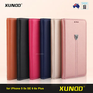 online retailer 6abc4 e2ede XUNDD Leather Wallet Card Holder Stand 6 Case Cover for iPhone 6S ...