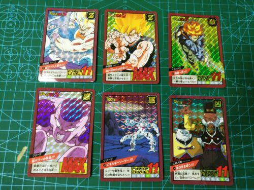 DRAGON BALL Z 30TH CARDDASS SUPER BATTLE POWER LEVEL PART 1 CARDS 6 PRISM