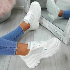 d87f6abbff90a item 2 WOMENS LADIES LACE UP CHUNKY TRAINERS SNEAKERS PLIMSOLLS FASHION  SHOES SIZE -WOMENS LADIES LACE UP CHUNKY TRAINERS SNEAKERS PLIMSOLLS  FASHION SHOES ...