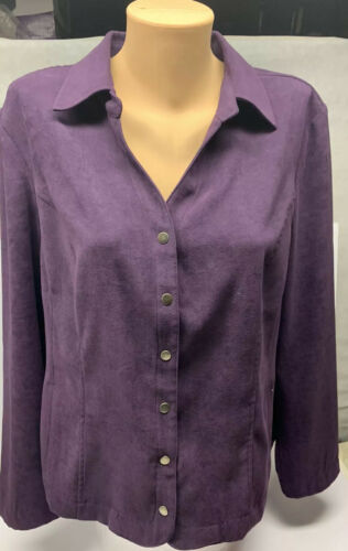Christopher And Banks Purple Jacket XL