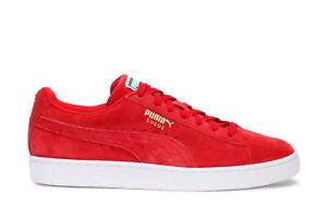 4b90f260d737 Puma Men s Casual Sneakers Suede Classic+ High Risk Red White 356568 ...