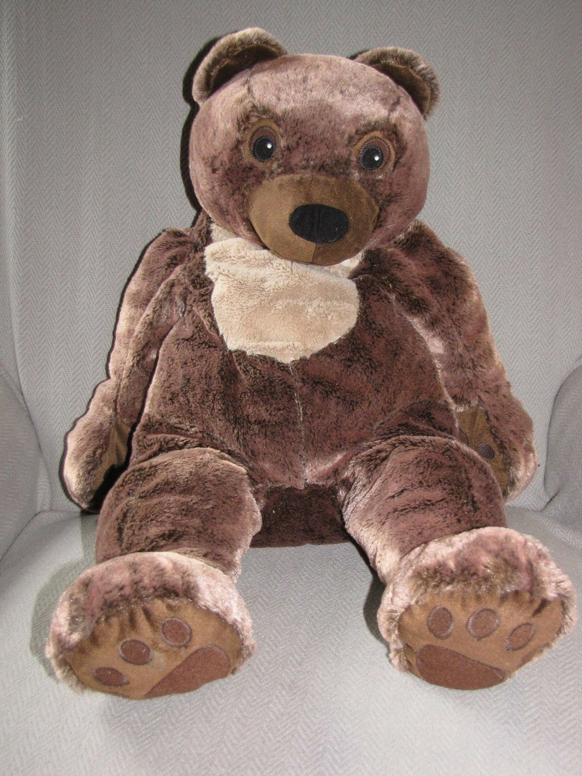 IKEA Teddy Bear Plush CUDDLY Braun Timeless Klappar Nalle Soft stuffed 20
