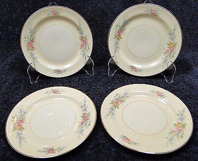 "FOUR Homer Laughlin Eggshell Nautilus Ferndale Bread Plates 6 1/8"" (Set of 4)"