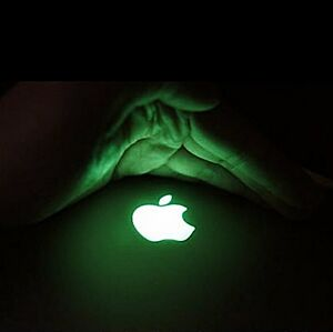 Apple Iphone Logo Handysticker Sticker Aufkleber Leuchtend