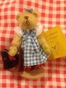 Deb-Canham-Limited-Edition-Dorothy-Wizard-Of-Oz-Bear-Ruby-Slippers-Boxed-Xmas
