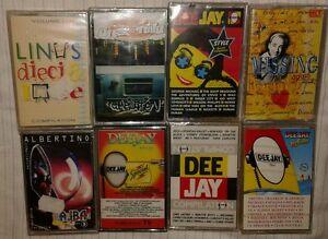 Lotto-stock-8-cassette-radio-deejay-MC-K7-MUSICASSETTA-SIGILLATO-nuove-linus