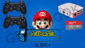 Retropie-128GB-Raspberry-Pi-3B-ARCADE-CONSOLE-2-WIRELESS-PADS