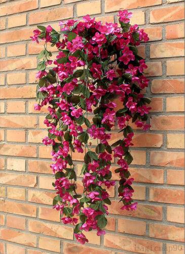 Blumentopf Blumenranke Künstliche Girlande Kunstpflanzen  Kunstblumen Violett de