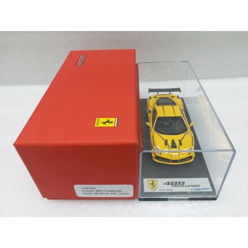 Ferrari 488 Challenge GIALLO MODENA con librea LookSmart Modelo 1 43  LS476A