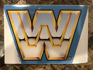 WWF//WWE Hasbro Original Blue Wrestling Ring Custom//Replacement Sticker Set Retro