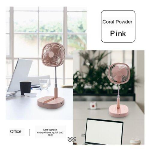 Electric Fan Compact Summer Adjustable Desktop Pedestal Standing Fan USB