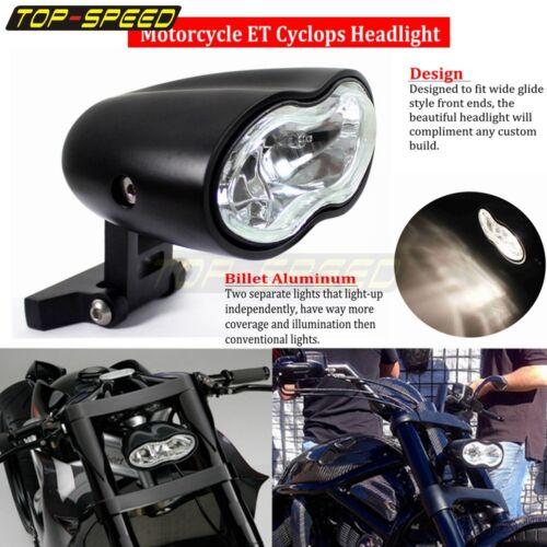 Black Wave Headlight Headlamp 55W Halogen For Harley Sportster XL883 1200 Dyna