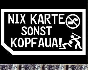 Details Zu Autohändler Visitenkarte Nein Danke Aufkleber Nix Karte Sonst Kopfaua