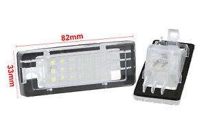 Set-Beleuchtung-Kennzeichen-LED-Dacia-Duster-Nach-10-12v-3w-canbus-Weiss-E9