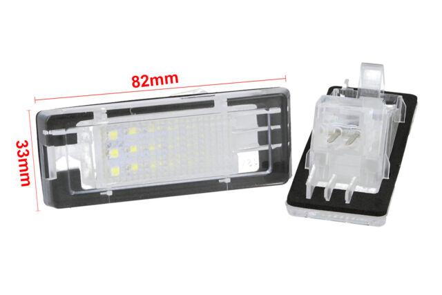Set Beleuchtung Kennzeichen LED Dacia Duster Nach 10 12v 3w canbus Weiß E9