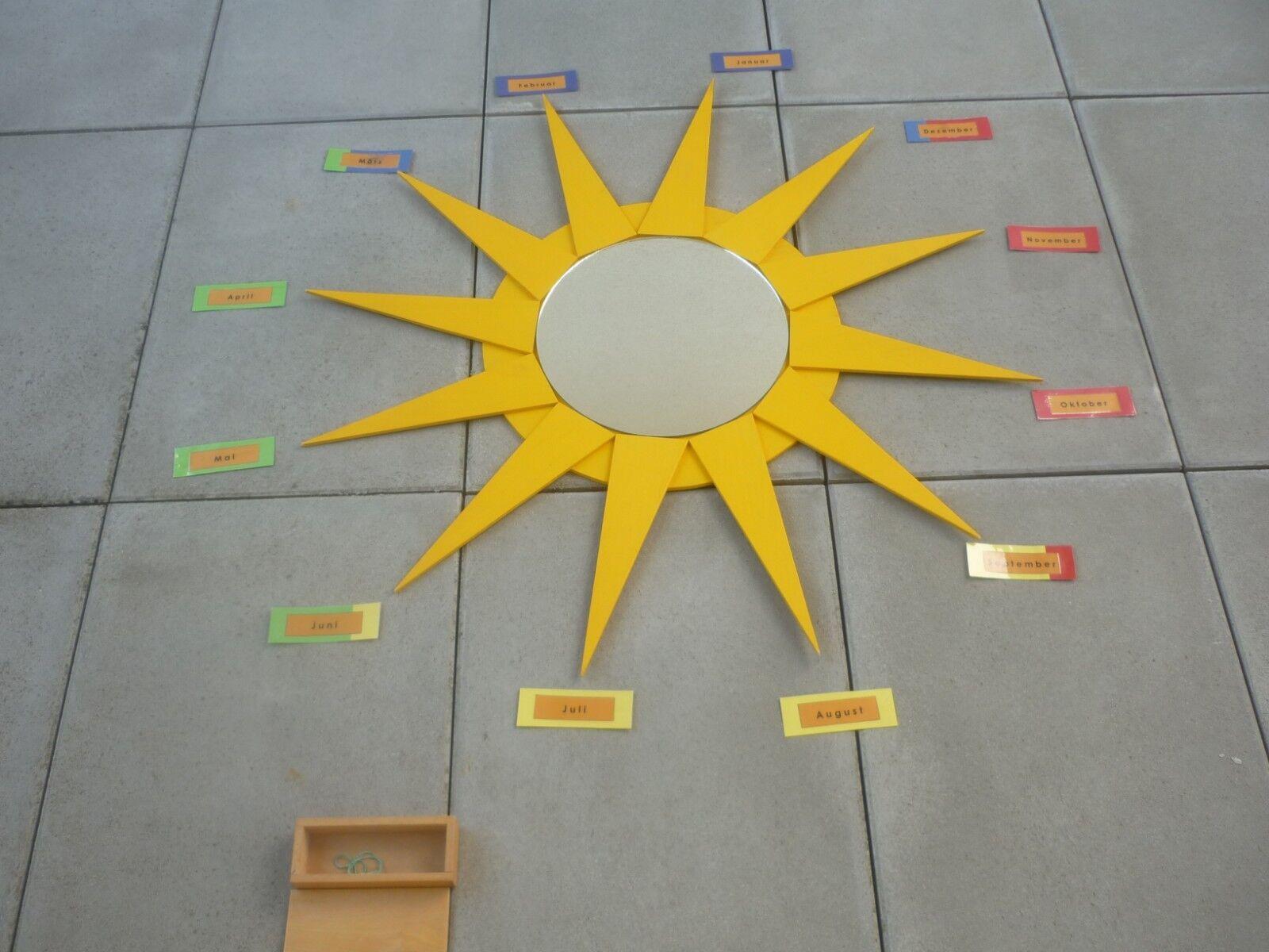Montessori Sonne & SpiegelGeburtstagskalender, Jahresuhr  Nienhuis Kästchen
