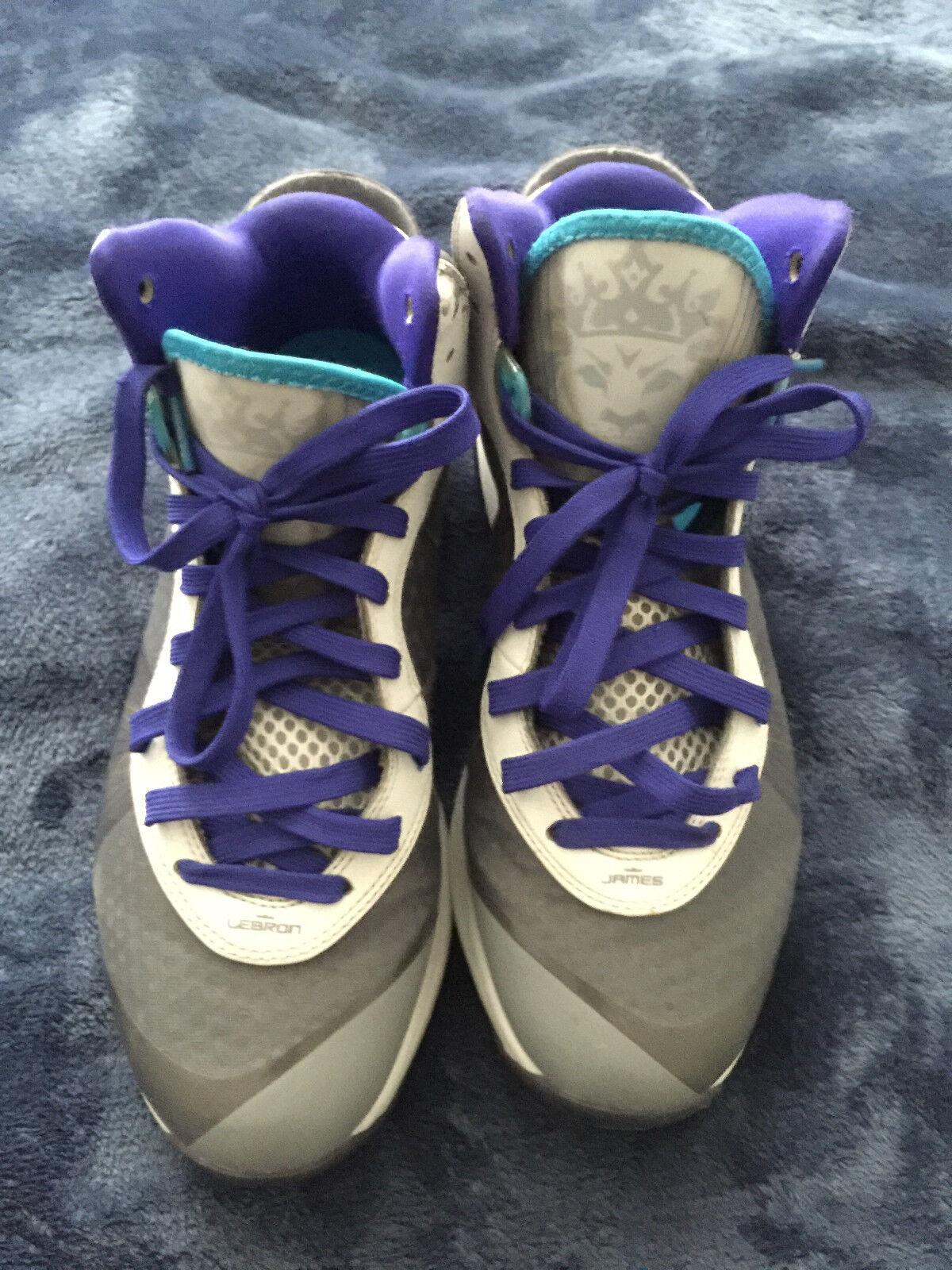Nike LeBron 8 V2 Summit Lake Hornets Size 10 Mens