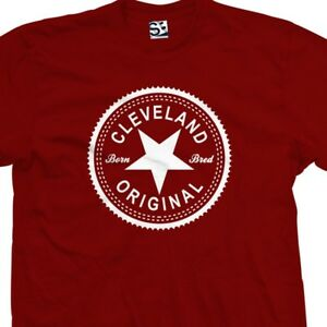 Cleveland-Original-Inverse-T-Shirt-Born-and-Bred-in-Made-Tee-All-Size-amp-Colors