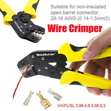 Wire Crimper Pliers Non Insulate Cable Connectors Terminal Ratchet Crimping Tool