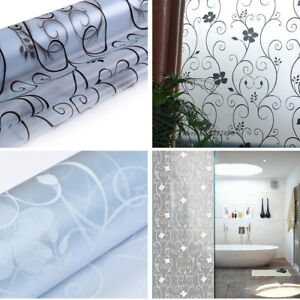 Image Is Loading 200x45cm Waterproof Window Decal Bathroom Frosted Glass  Door