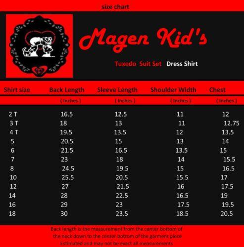 Magen Kids Boy Formal Bridal 5 Pcs Set Suit Size 1-18 KHAKI TAN 2 Buttons 026-79