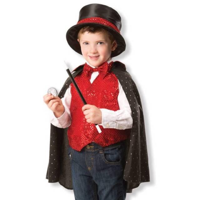 Melissa And Doug Magician Role Play Boy Girls Kids Childs Fancy Dress Costume