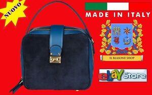 Made-in-Italia-Borsa-a-tracolla-BLU-SABA-Woman-Pelle-e-Camoscio-bauletto-FASHION