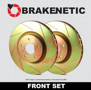 FRONT SET BRAKENETIC SPORT SLOTTED Brake Disc Rotors BNS47027.SS