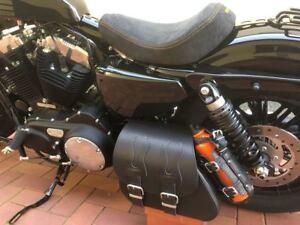 Solo-Tasche-Harley-Davidson-Sportster-Sporty-Flame-1200-883-48-Schwingentasche